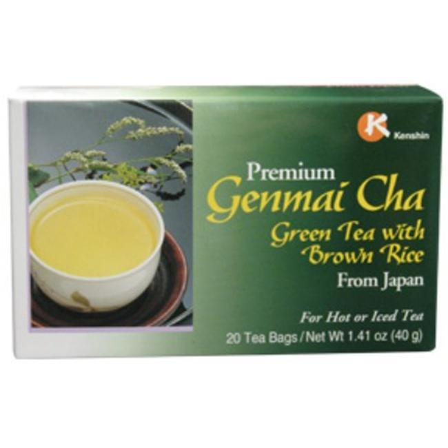 Kenshin 50222 Genmai Cha Tea from Japan 20 Bags Per Box - Case of 24
