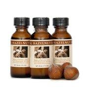 Bakto Flavors Natural Hazelnut Flavor (1 FL OZ) Pack of 3