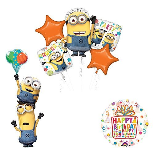 Despicable Me 3 Minions Stacker Birthday Party Supplies and balloon Decorations