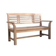 2-Seater Wooden Bench in Natural