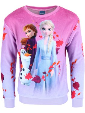 Jerry Leigh Girl's Frozen 2 Anna Elsa and Olaf Pullover