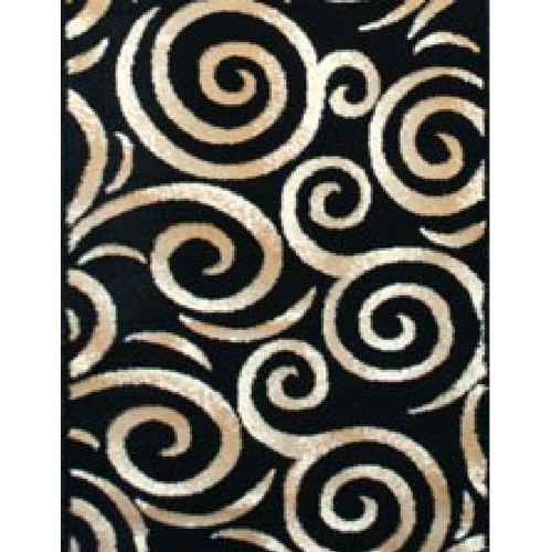 Persian Rugs Oriental Swirly Black Area Rug Walmart Com