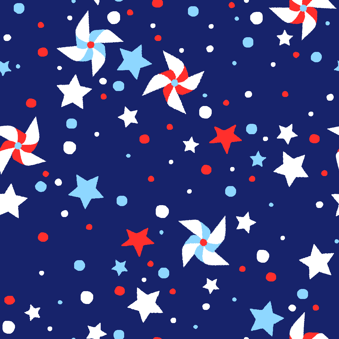 "RTC Patriotic Fabrics 100% Cotton, Pinwheel Star, 44"" Wide, 140 Gsm, Quilt, Crafts By The Yard"