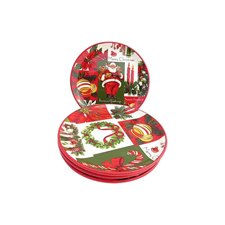 Martha Stewart Collection Set of 4 Holiday Vintage Paper Appetizer Plates (Halloween Food Recipes Martha Stewart)