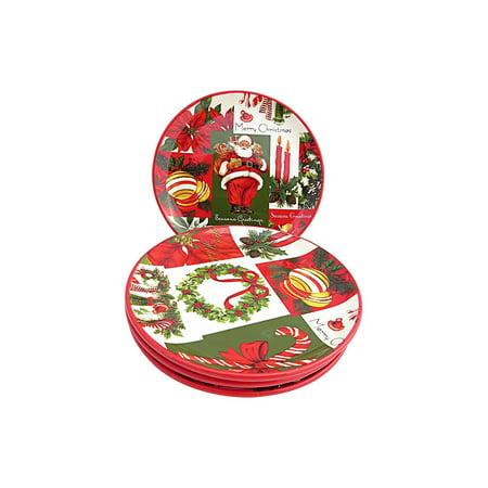 Martha Stewart Collection Set of 4 Holiday Vintage Paper Appetizer Plates - Halloween Dishes Martha Stewart