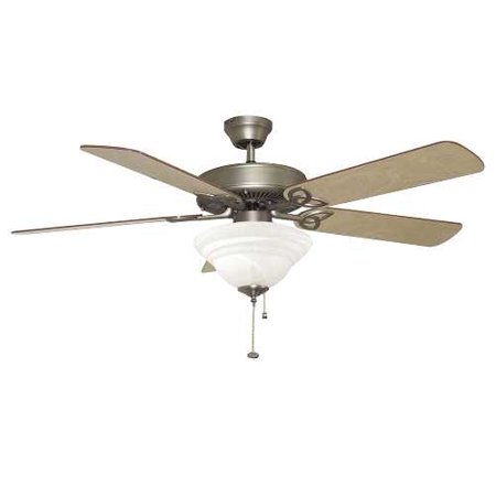 Ellington Quick Connect Ceiling Fan With Light  Two 60 Watt Incandescent Candelabra Bulbs  52 In   Ash And Mahogany  Nickel