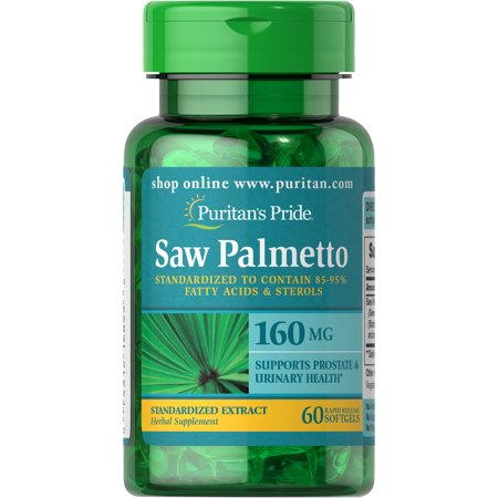 Puritan's Pride Saw Palmetto Standardized Extract 160 mg-60