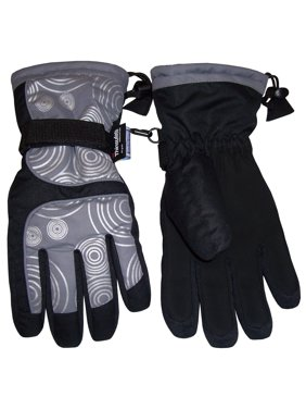 NICE CAPS Kids and Toddler Scroll Print Waterproof Thinsulate Ski Snowboarder Winter Snow Glove - Fits Boys Girls Youth Childrens Child Sizes For Cold Weather