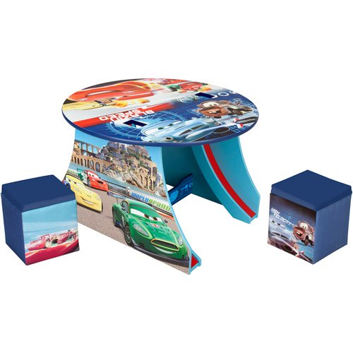 Disney Pixar Cars Track Table And Ottoma Walmart Com