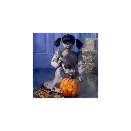 Tekky Animated Lunging Pumpkin Carver Halloween Prop