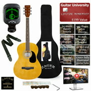 Best Parlor Guitars - Easy Play No Sore Fingers Acoustic Guitar Package Review