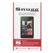Snugg B00CDK6H6G Nexus 7 High Transparency Screen Protectors, Pack of 2