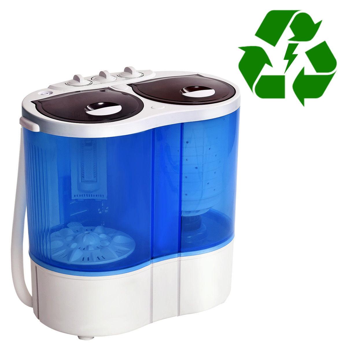 Costway Portable Mini Washing Machine Compact Twin Tub 15 ...