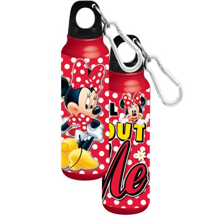 Disney Minnie Mouse All About Me Aluminum Water Bottle - Wide Mouth,