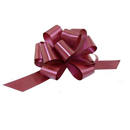 Burgundy Decorative Gift Pull Bows - 5