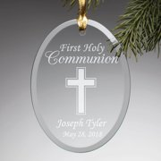 Personalized First Communion Glass Gift Ornament