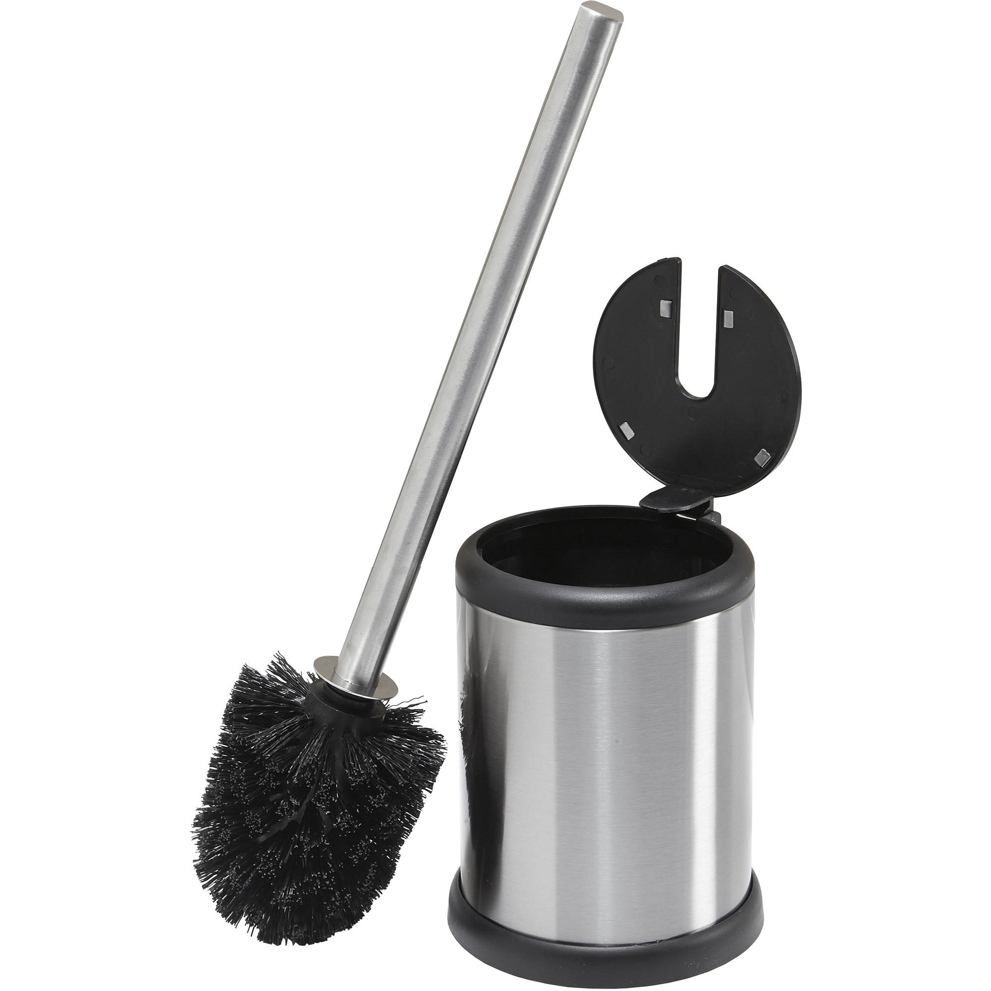 Bath Bliss Stainless Toilet Brush with Closing Lid by Kennedy International, INC.