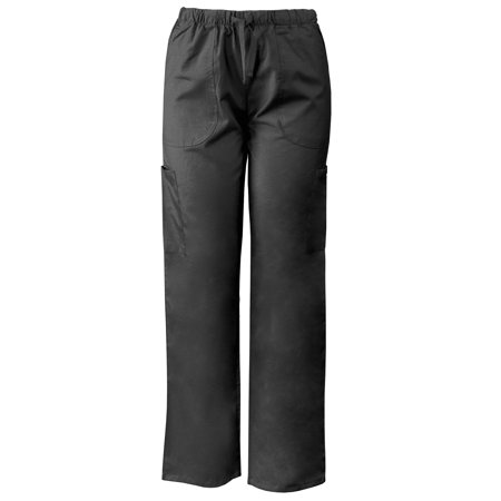 Lightweight Scrubs Pants with Elastic & Drawstring Waistband, Cargo Pockets for $<!---->