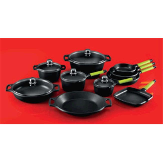 Fundix F3-SET15 Wok Set with Removable Handle - Black