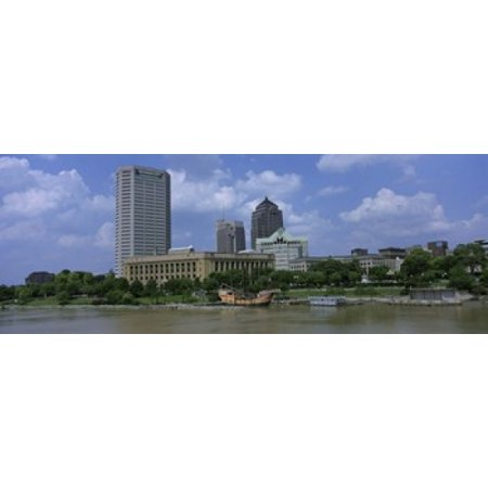 USA Ohio Columbus Cloud over tall building structures Canvas Art - Panoramic Images (36 x 13) - Halloween Usa Columbus Ohio