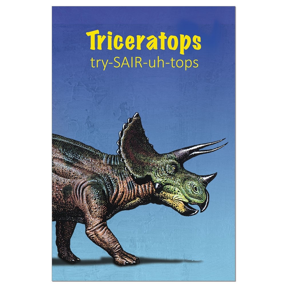 Tree-Free Greetings Triceratops Modern ECOnotes Blank Note Cards-FS66896