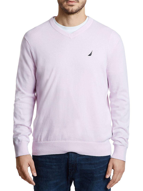 Nautica Men's Jersey Navtech V-Neck Sweater