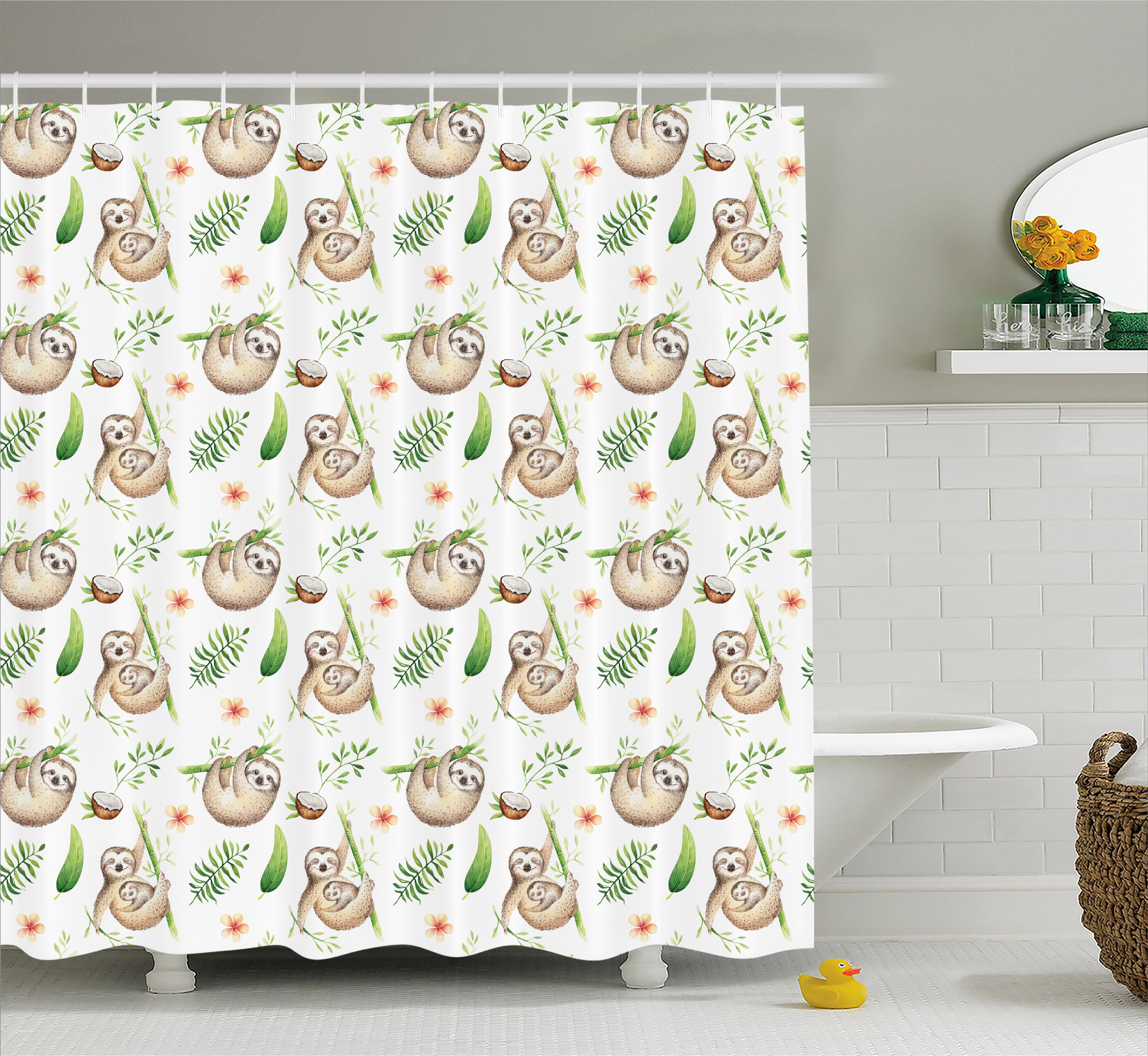 Bathroom Supplies Accessories Home Garden Sloth Pattern