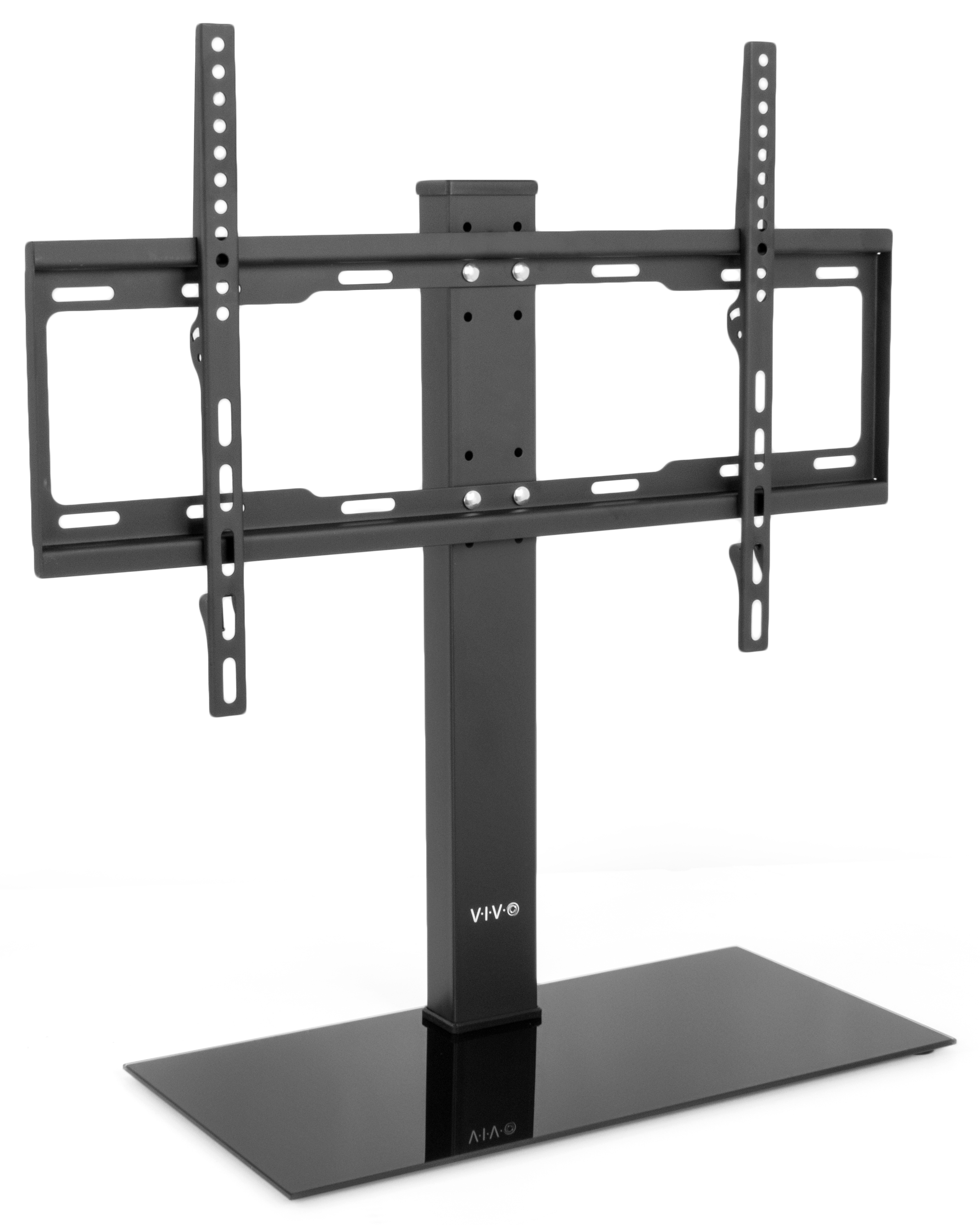 """VIVO Black Universal LCD Flat Screen Freestanding TV Table Top Stand w  Glass Base for 37"""" to 60"""" T.V.... by Vivo"""