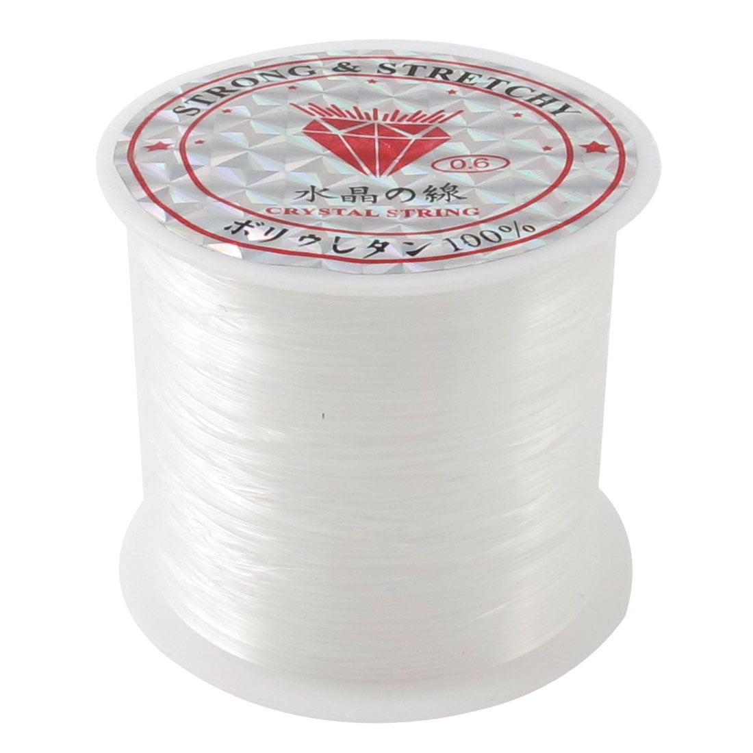 Unique Bargains 18Yds/16M 0.6# Beading Thread Nylon Spool Fishing Line