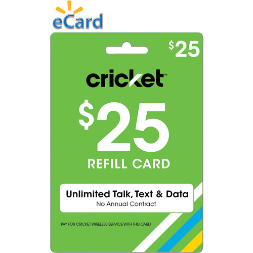 Cricket Refill 60 Email Delivery