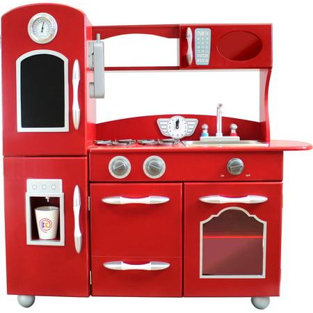 Teamson Kids Little Chef Westchester Retro Play Kitchen Red