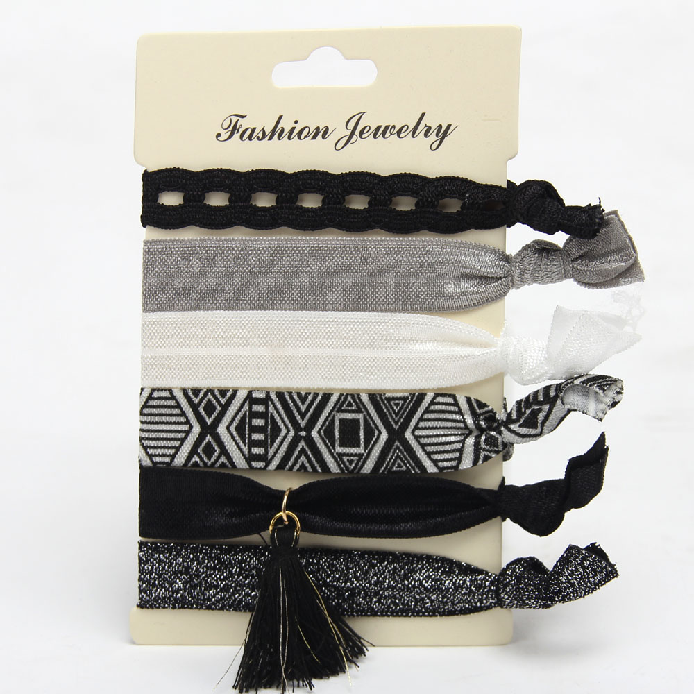 Korean Style Fashion Print Harajuku knotted Hair Rope Hair Bands Hair Accessories Style 1