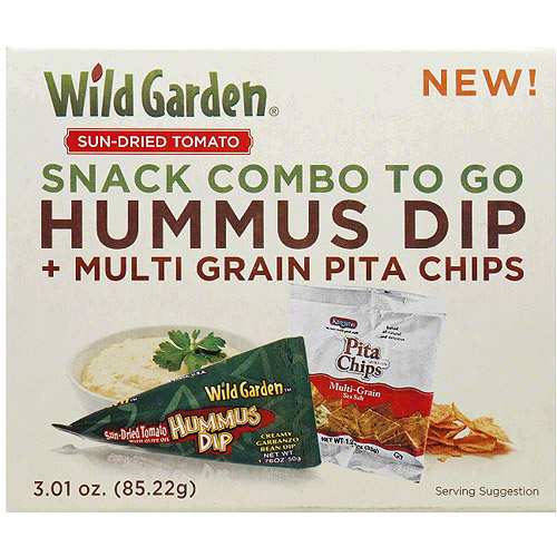 Wild Garden Snack Combo to Go Sun-Dried Tomato Hummus & Multigrain Pita Chips, 3.01 oz, (Pack of 6)