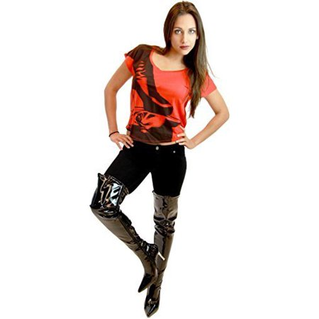 Batman The Dark Knight Catwoman Women's Black Boots ()