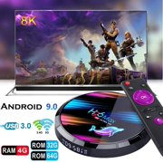 Dnyker Android 9.0 TV Box Smart Player 4GB RAM 64GB ROM 3D/ 8K Ultra HD/H.265/2.4GHz WiFi/USB 3.0/ Android Media Box