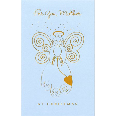 Freedom Greetings Gold Foil Angel: Mother Christmas Card Single Power Foil Card