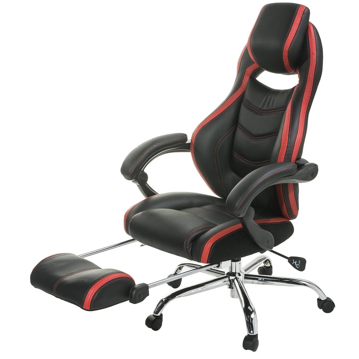 Merax Ergonomic High Back PU Leather Racing Style Gaming Chair with Footrest