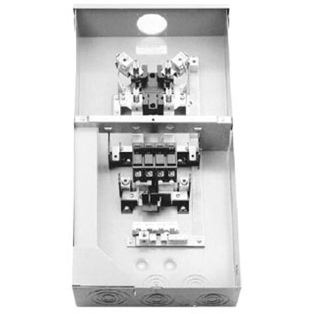 Midwest R281CB1 Metered Ringless Service Entrance Equipment 200 Amp, 120/240 Volt, 1-Phase, NEMA 3R, Surface (Wire Size For 200 Amp Service Entrance)