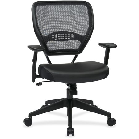 Office Star, OSP5700E, Dark Air Grid Back Managers Chair, 1 Each, Black Eco Leather Managers Chair