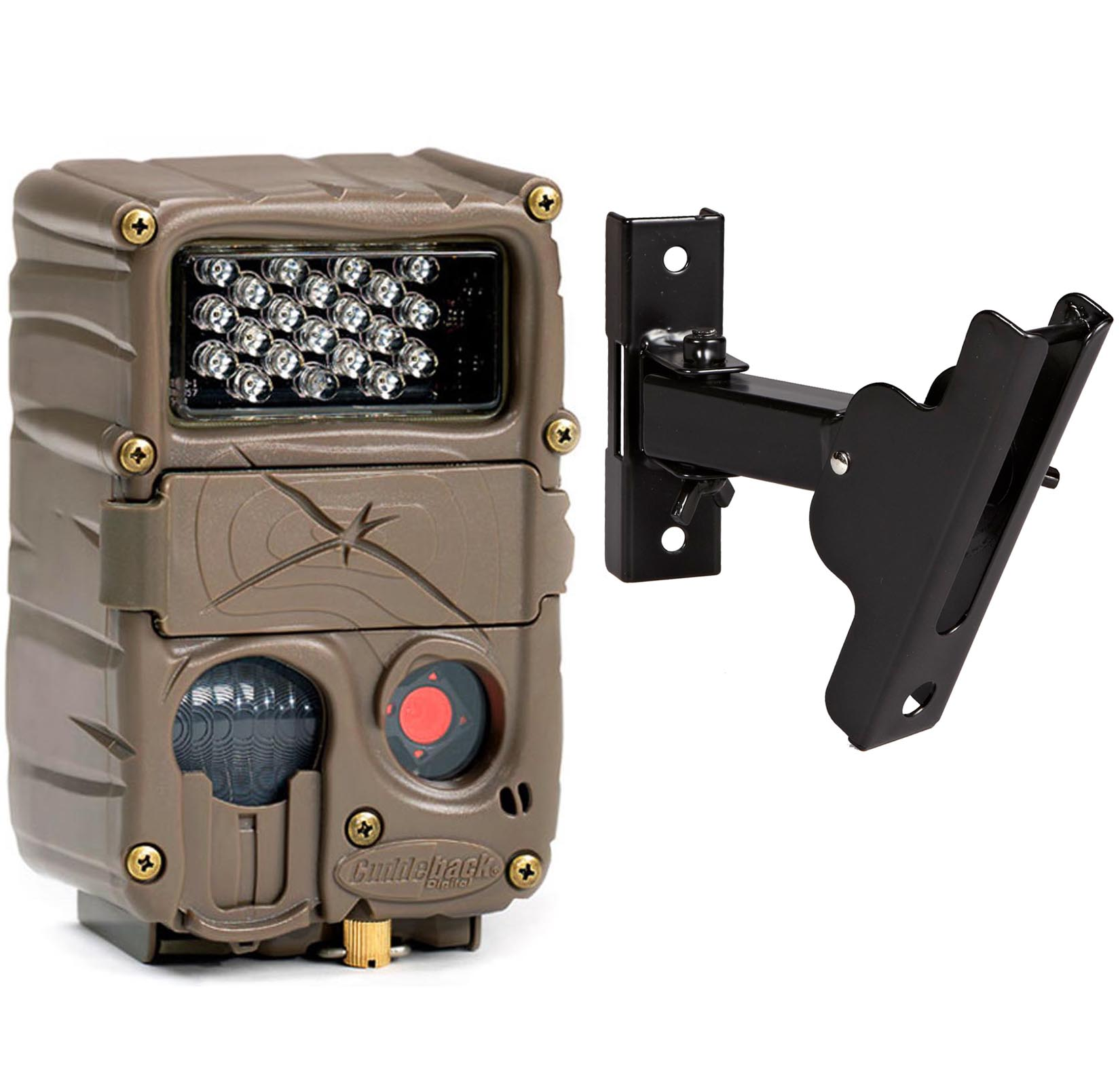 Cuddeback 20MP Model E2 Long Range Micro IR Trail Game Camera + Genius PTL Mount by Cuddeback