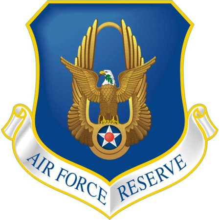 Air Force Reserve Emblem (3.8 Inch AIR FORCE RESERVE MILITARY DECAL)