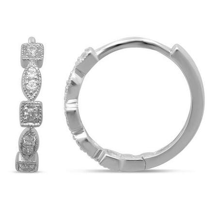 Towers Stackable VP008-E-WG 14K 0.16 Carat Diamond Stackable Hoop Earrings - image 1 of 1