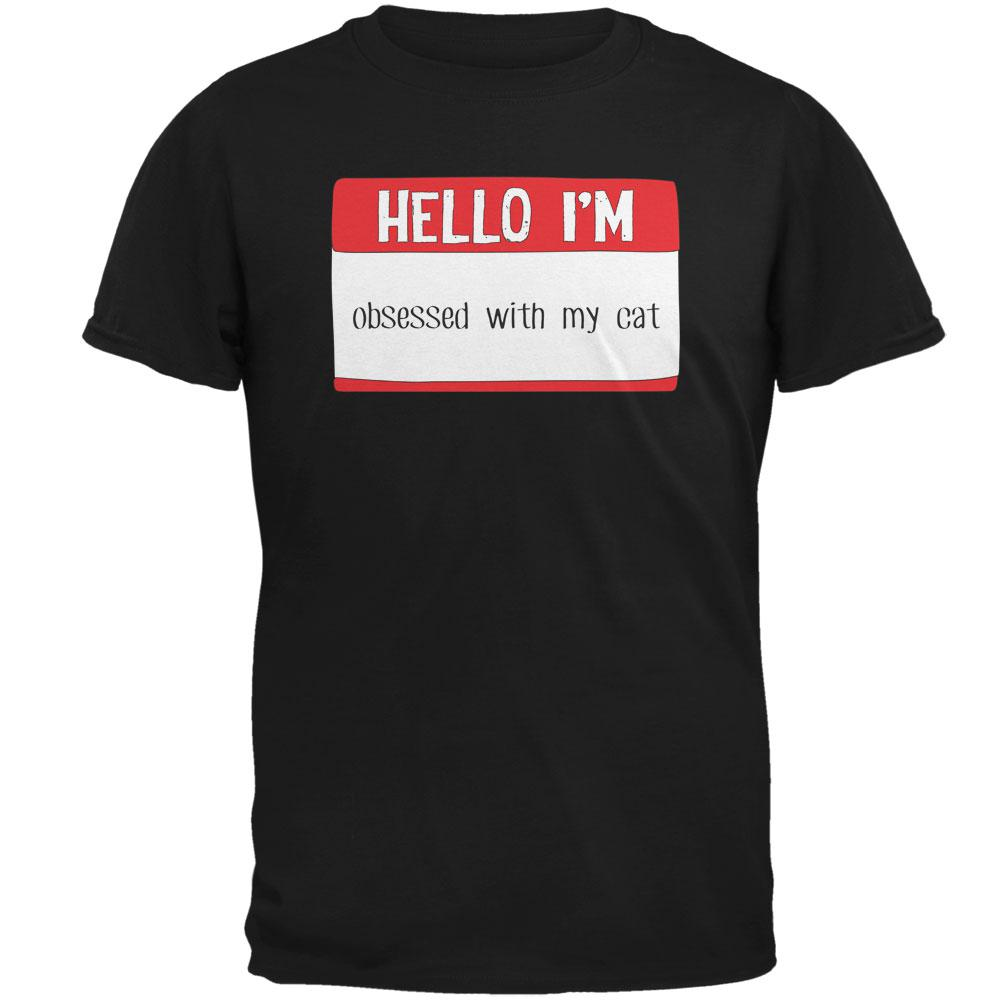 Halloween Hello I'm Obsessed With My Cat Mens T Shirt