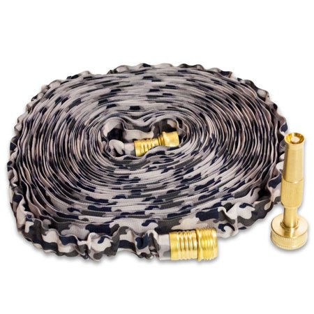 - 50' HydroHose Deigner Series w/Adjustable Brass Nozzle, Grey Camo