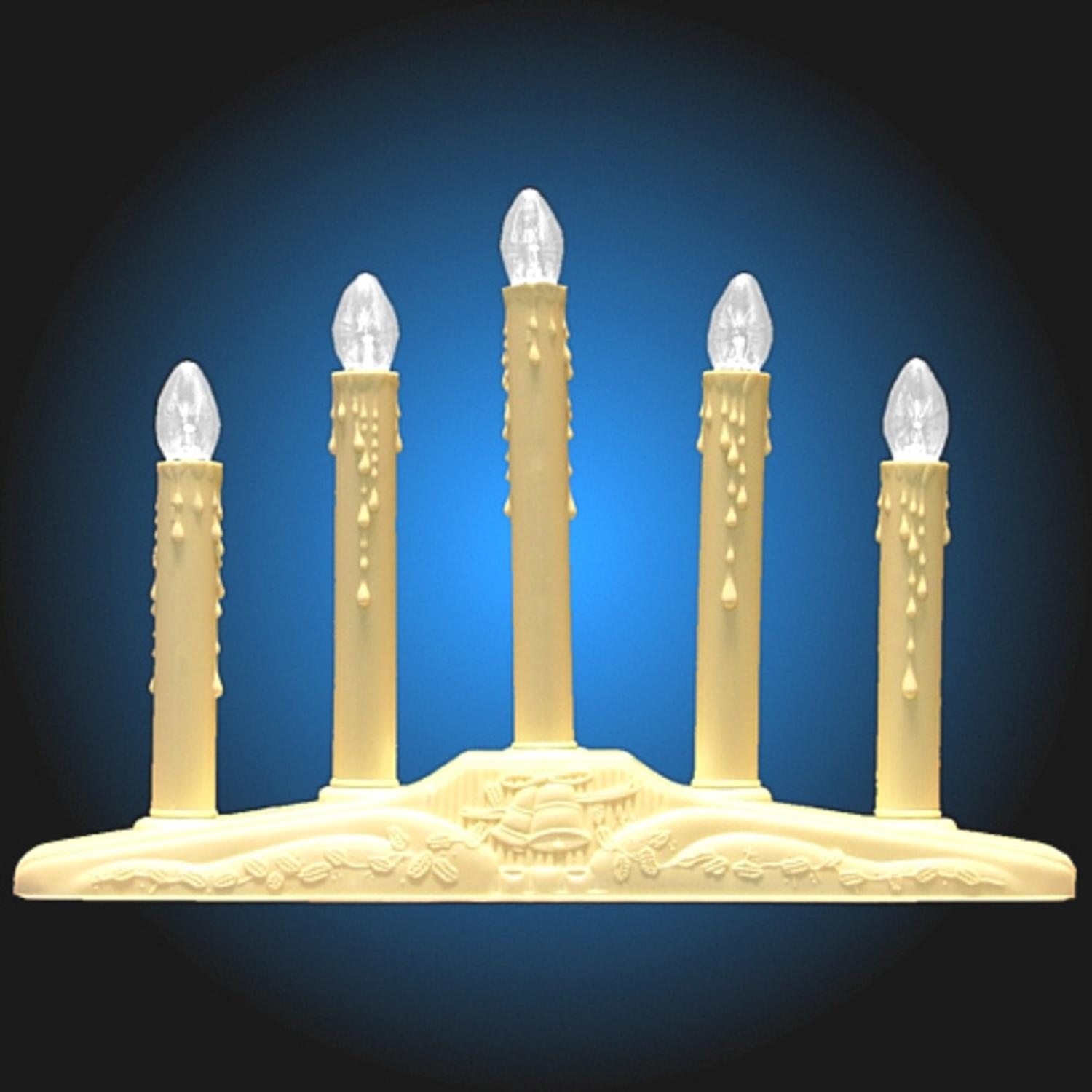 5 light ivory candolier christmas indoor candle lamp walmartcom - Christmas Candles For Windows