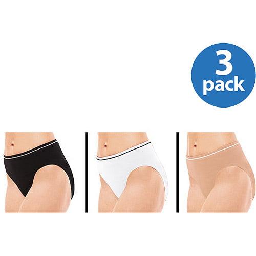 Best Fitting Women's Seamless Hi-Cut Briefs, 3-Pack
