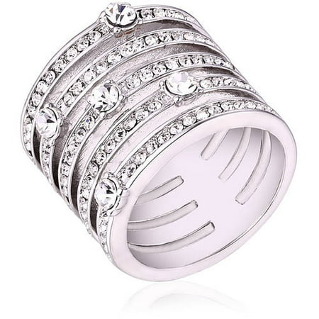 Swarovski Elements 18kt White Gold-Tone Ring