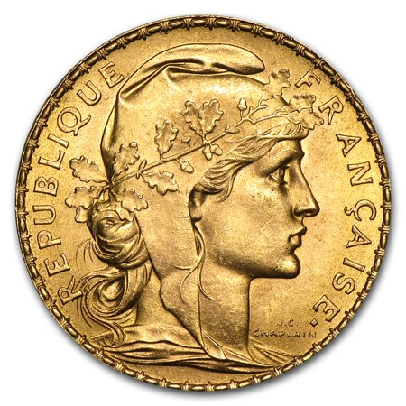 France Gold 20 Francs French Rooster AU (Random) ()