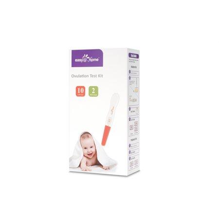 Easy Home 10 Ovulation  Lh  Tests Plus 2 Pregnancy  Hcg  Tests   Midstream Test Sticks