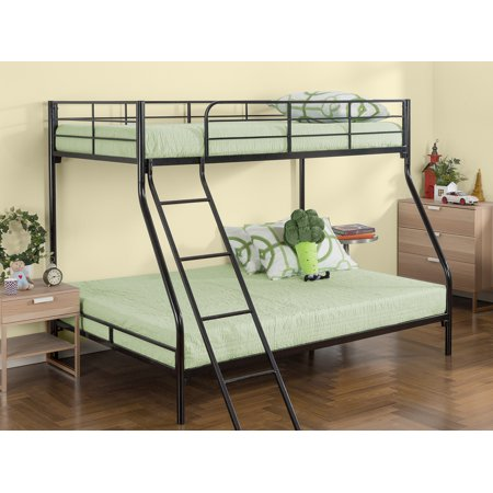 Zinus Hani Easy Assembly Quick Lock Metal Bunk Bed, Twin over Full